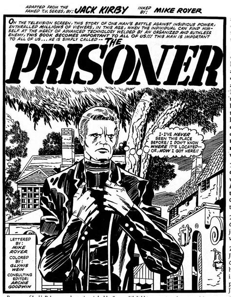 the prisoner a novel books the legendary kirby s comic book of the prisoner