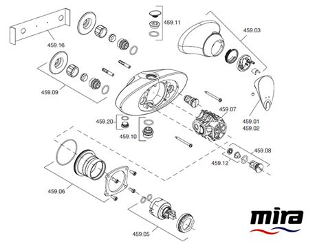 Mira Shower Spare Parts by Mira Combiflow Exposed Shower Spares And Parts Mira