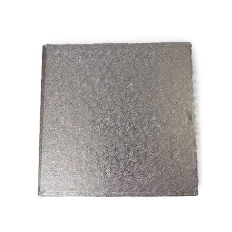 Square Silver silver square 3mm cake board cake presentation
