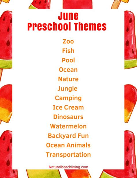 kindergarten themes for june june preschool themes with lesson plans and activities