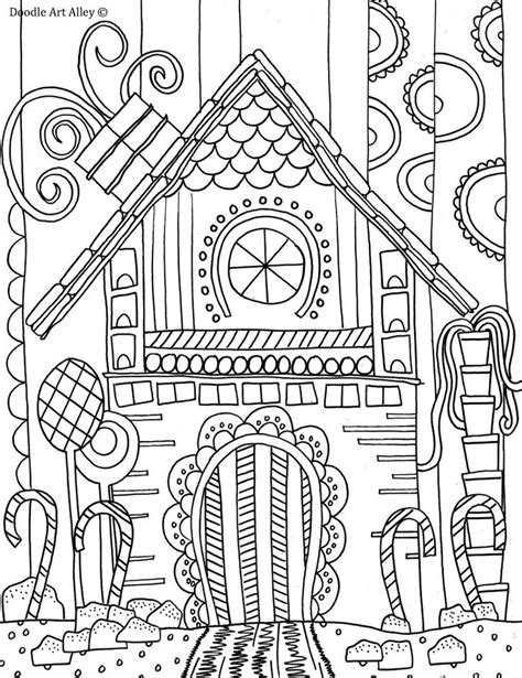 gingerbread house coloring page christmas pinterest