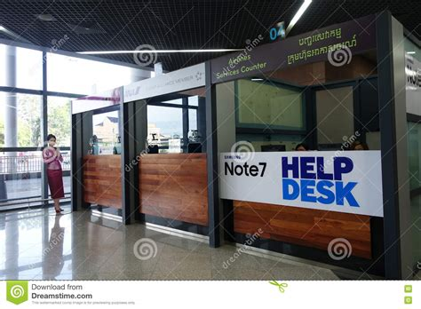 Samsung Help Desk by Samsung Note7 Helpdesk Counter Editorial Photography Image 79701492