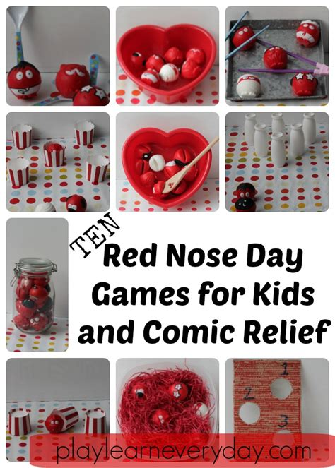 nose day for and comic relief play and learn every day
