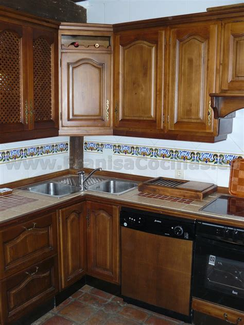 muebles de cocina madera rustica muebles de cocina r 250 stica madera pino franisa cocinas