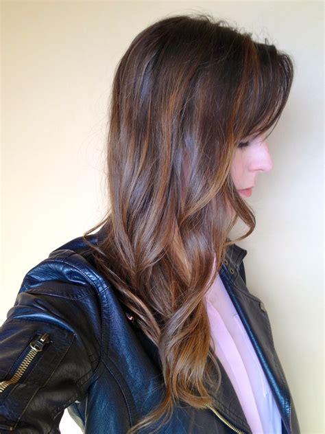 diy highlights for dark brown hair sequins shadows my diy balayage highlights results