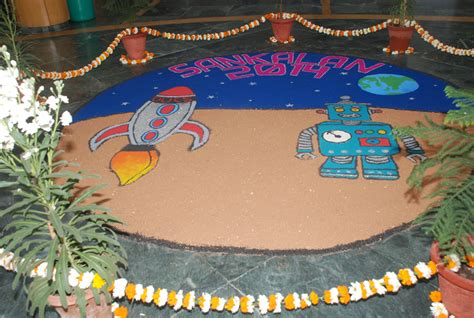 themes for technical rangoli du computer science department organises 10th edition of