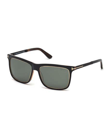 Bottega Veneta Continuous Wheat Print Purse by Tom Ford Shiny Metal Sunglasses Black Neiman