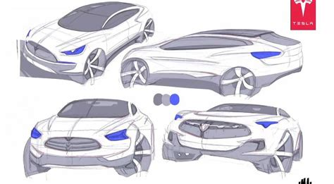 Tesla Model X Sketches by Tesla Model X Crossover Electric Vehicle Coming In 2013