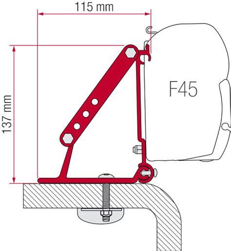 fiamma f45 awning mounting brackets fiamma f45 awning roof mount brackets 2 piece set