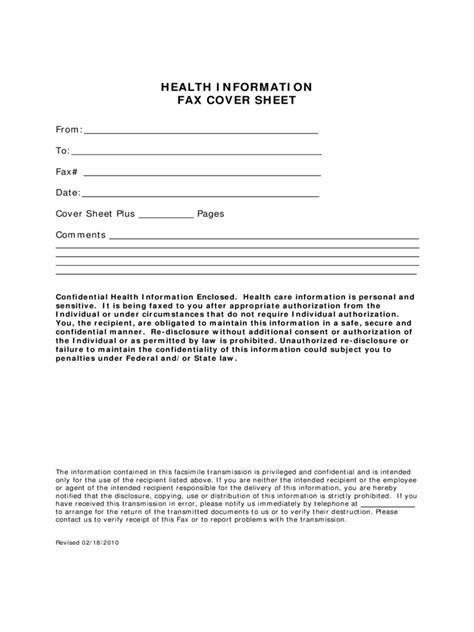 Medical Fax Cover Sheet   3 Free Templates in PDF, Word
