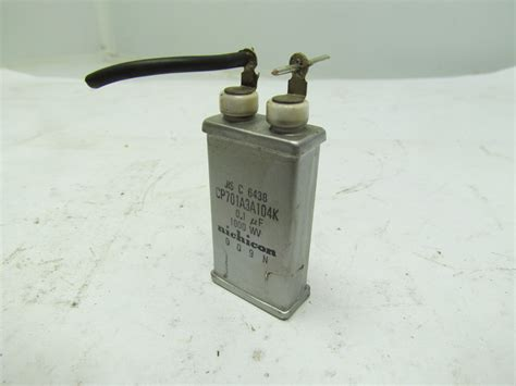 electrolytic capacitor 104 nichicon cp701a3a104k electrolytic capacitor 0 1 uf 1000 wv ebay