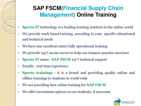 Sap Course For Mba by Supply Chain Management Courses In Hyderabad Best Chain 2018