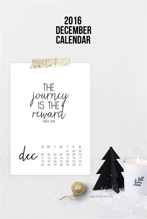 printable quote calendar 2016 printable 2016 december calendar with inspirational quote