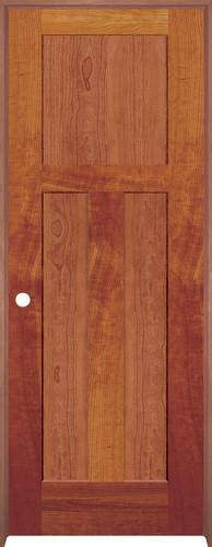 Interior Cherry Doors Mastercraft Cherry Flat Mission 3 Panel Prehung Interior Door At Menards 174