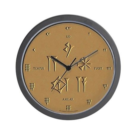 Inexpensive Housewarming Gifts by Time Flies Sumerian Latin Wall Clock By Ciceros Soapbox