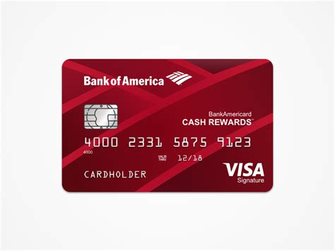 bank card template bank of america rewards card template freebie