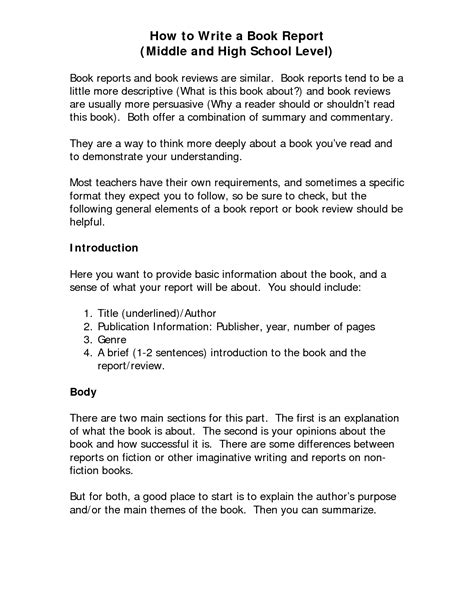 how to write a book report for high school best photos of format for writing a book book writing