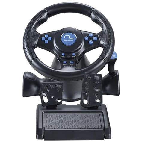 volante ps2 volante multilaser racer js073 3 em 1 para ps2 ps3 e pc