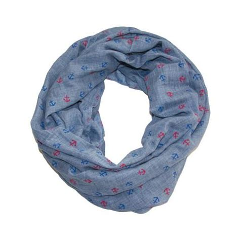 anchor infinity scarf in blue chambray blue beetle