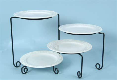 4 tiered buffet stand rotating black iron arizona