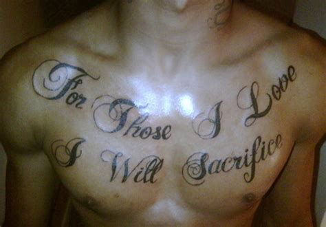 tattoo on chest words wording tattoos page 11