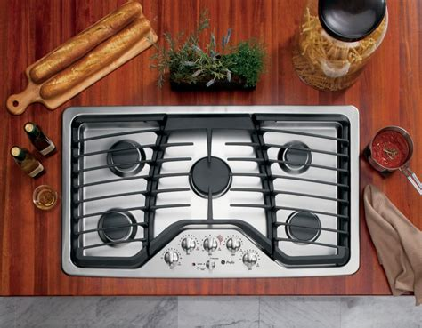 Built In Cooktop Ge Profile 36 Inch Built In Gas Cooktop In Stainless Steel