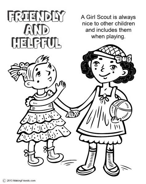 Daisy Girl Scout Law Coloring Pages Scout And Promise Coloring Pages Free
