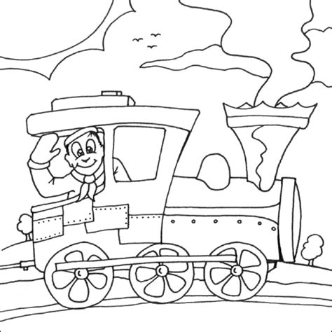 steam train coloring