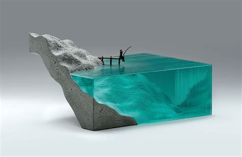 Arts Beton Design by Broken Liquid New Bodies Of Water Sculpted From Layered