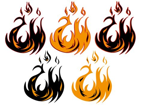fire clipart tribal pencil and in color fire clipart tribal