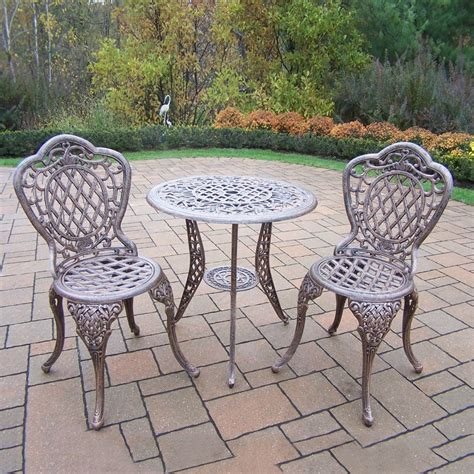 Shop Oakland Living Mississippi 3 Piece Antique Bronze 3 Patio Dining Set