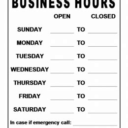 hours of operation template microsoft word business hours template word business hours signs 37