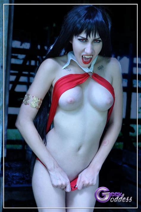 Vampirella Showing Fangs Cosplay Sexy Superhero Costumes Superheroes Pictures Luscious