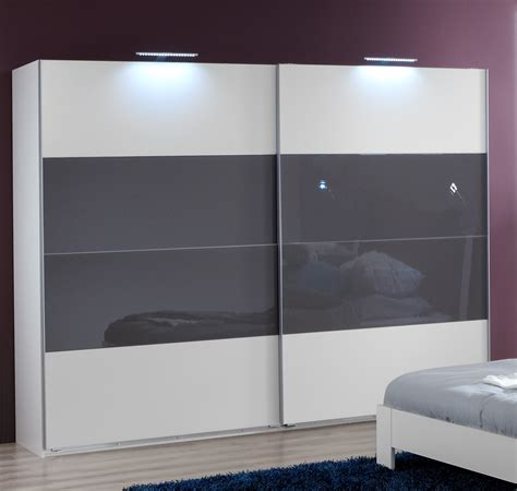 White Sliding Door Wardrobes Uk by Slumberhaus Eleganz German Made Modern White Grey