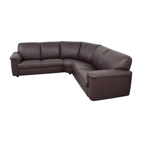 Plush Leather by 71 Ikea Ikea Plush Brown Leather Sectional Sofas