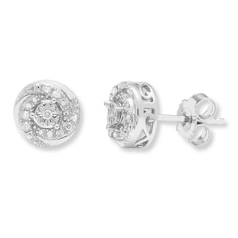 Sterling Silver Studs sterling silver 1 10 cttw stud earrings