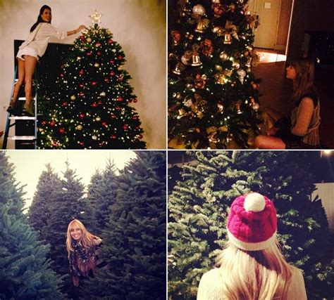 celebrity instagram christmas celebrities share their christmas tree and decoration