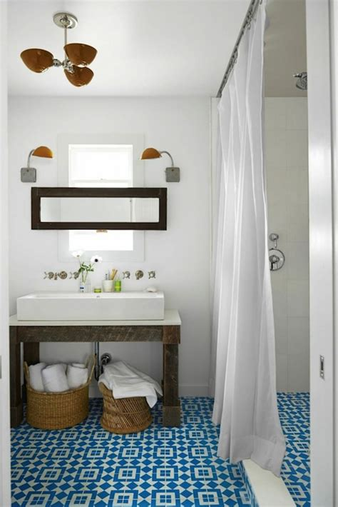 country living bathrooms turquoise mosaic tiles transitional bathroom behr