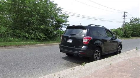 subaru forester exhaust 2014 subaru forester xt invidia n1 dual exhaust driveby