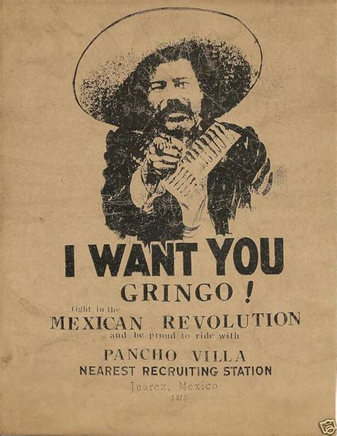 Plakat I Want You by Pancho Villa Recruiting Poster I Want You Gringo