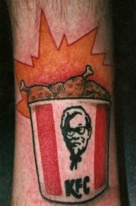 double down tattoo kfc joins the pantheon of ridiculously