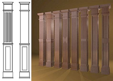 interior home columns decorative wood columns with pdf diy how to build wood