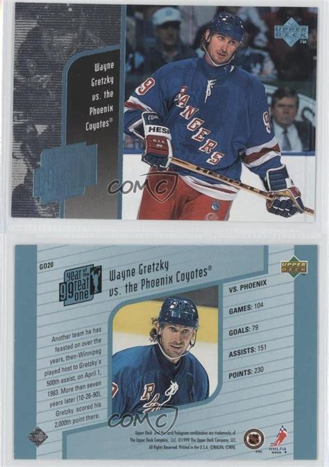 upper years news 1998 upper deck year of the great one go20 wayne gretzky
