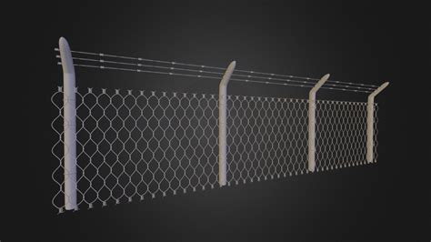 barbed wire fence    model  xan san atxansandartist fbfb sketchfab