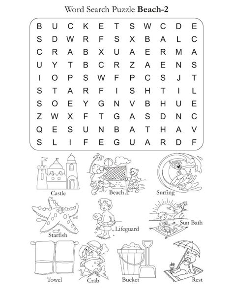 printable word search beach word search puzzle beach 2 download free word search