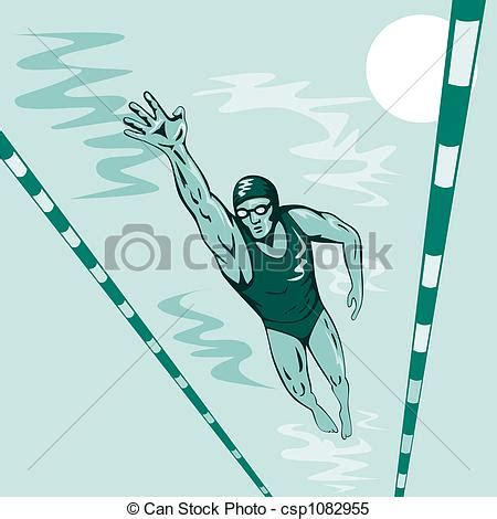 Swimming Illustrations And Clipart Can Stock Photo   stock illustrations of swimmer free style illustration