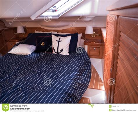 modern mahogany furniture modern yacht interior stock photo image 32097330