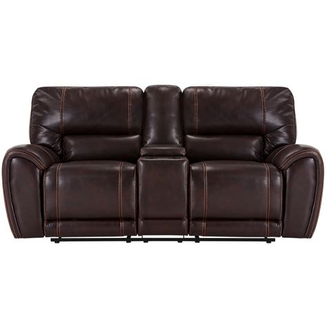 reclining loveseat with console microfiber city furniture bailey dark brown microfiber reclining