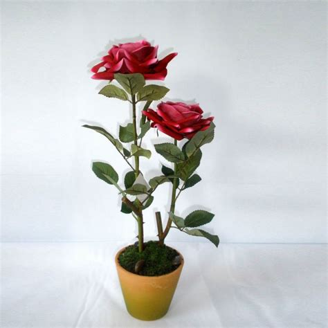 colorful artificial velvet flower artificial potted