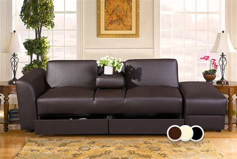 Sofa Bed With Drawers Wowcher Deal Wowcher 163 199 For A Faux Leather Sofa Bed With Two Storage Drawers And A